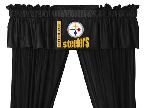 New 5pc Pittsburgh Steelers Football Window Drapes
