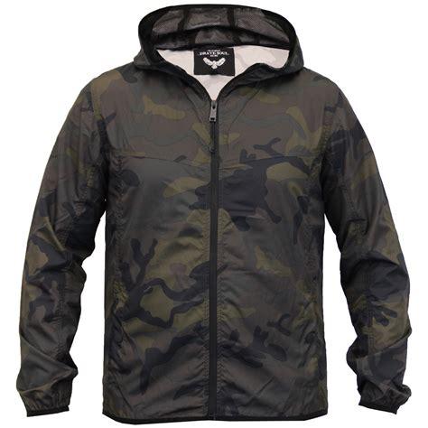 Camouflage Hooded Jacket mens camouflage jacket brave soul kagool coat