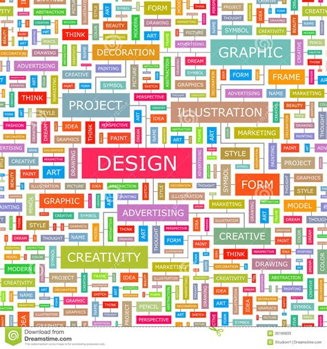 design concept words list design stock photos image 35166833