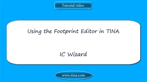 Tina Industrial Version 10 User License Standard using the footprint editor in tina ic wizard