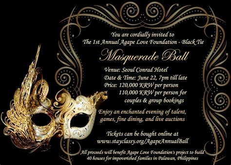 Masquerade Themed Invitation Templates birthday invitations free templates drevio