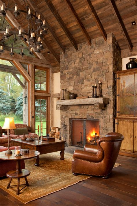 Rustic Ls For Living Room by 20 Rustic Fireplaces In Warm And Cozy Living Spaces