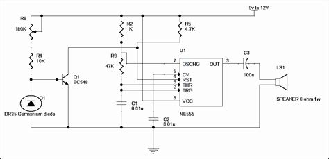 buzzer protection diode simple alarm circuit using thermistor germanium diode and lm341