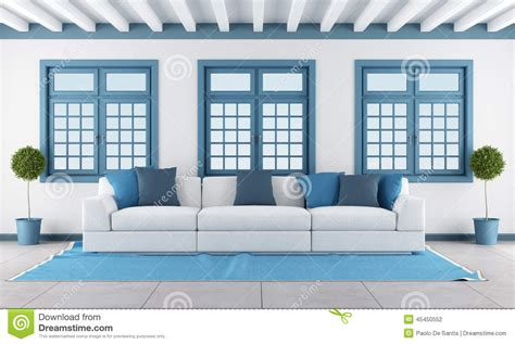blue room with white furniture white and blue living room stock illustration image of blue 45450552