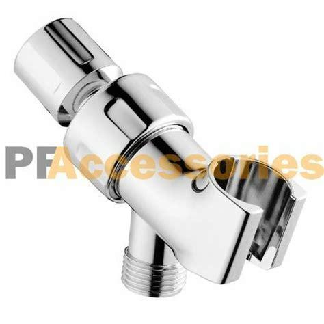 universal shower head holder arm mounted adjustable screw