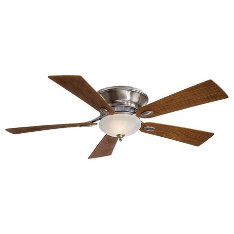 minka aire f711 pw delano ii flush mount ceiling fan w