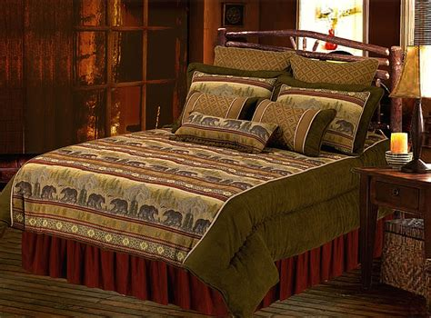 lodge comforter black bear mountain scenery northwest lodge bedding