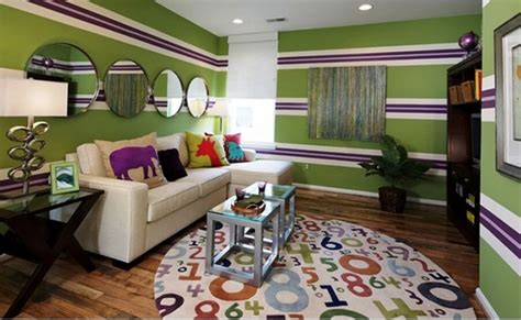 green and purple living room 10 modern living room interior design ideas with striped