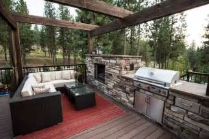 outdoor kitchen and fireplace designs outdoor kitchen designs featuring pizza ovens fireplaces