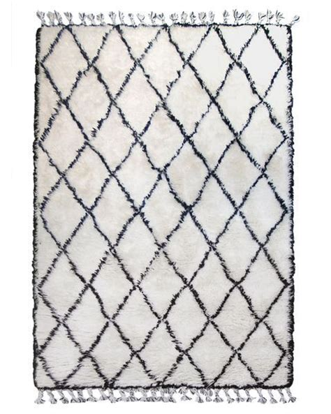 diamond pattern black and white rug berber rug white with black diamond pattern 180x280cm