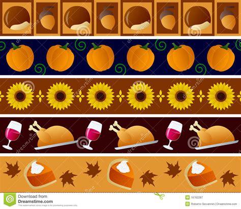 Bordir Set by Thanksgiving Borders Set Stock Vector Illustration Of