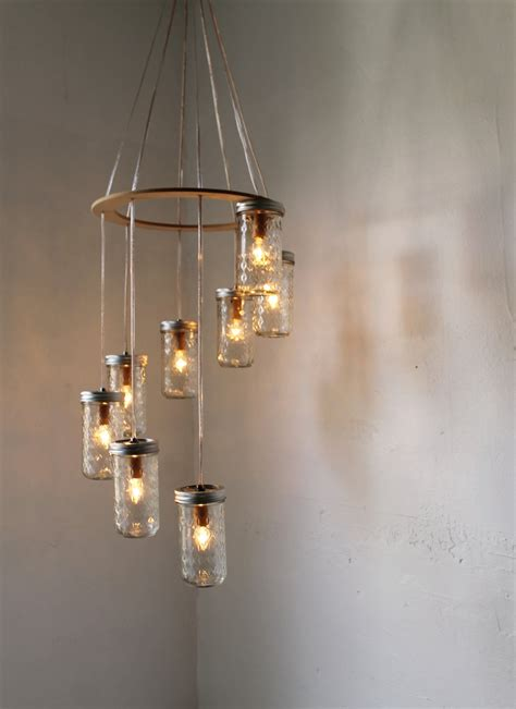 Hanging Lighting Ideas Hanging From Ceiling Diy Glass Jar Candle Holder Lanterns For Kitchen Lighting And
