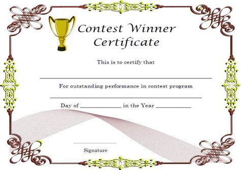 winners certificate template winner certificate template 40 word templates for