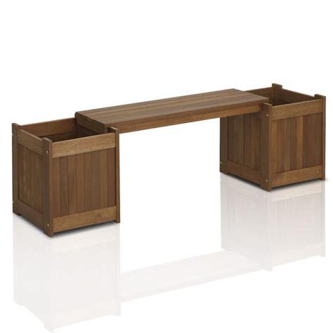 langley street arianna rectangular wood planter bench