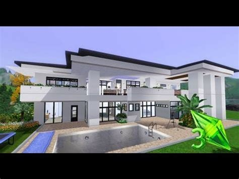 sims 3 modern house floor plans the sims 3 house designs modern elegance youtube