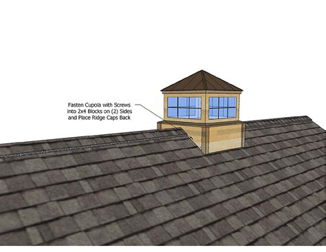 Roof Cupolas by Cupola Installation How To Install Cupola