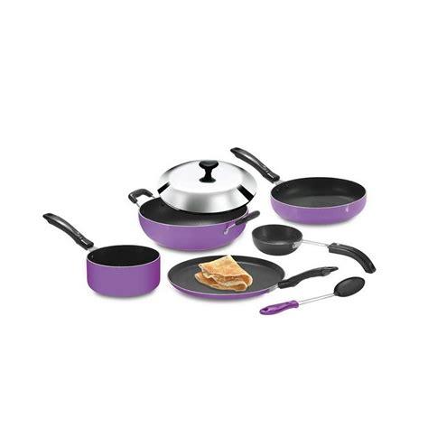 Panci Teflon Cookware Set 7pcs buy non stick 7pcs cookware set purple at best price in india on naaptol