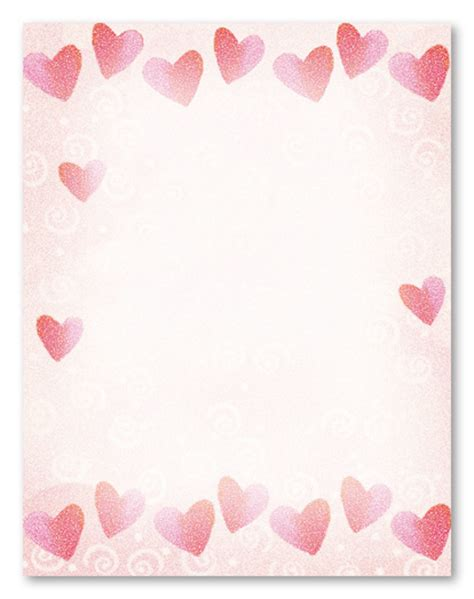 free printable valentine stationary borders 9 best images of letterheads printable valentine