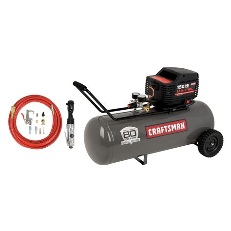 craftsman 17 gal horizontal air compressor with air ratchet 80th anniversary edition