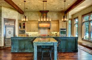 Craftsman Style Dining Room Chandeliers Ranch Style By The Lake Rustic Kitchen Houston By