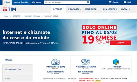 www tim mobile it tim smart mobile offerte casa e smartphone
