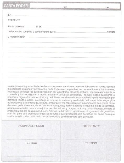 ejemplos de carta poder judicial