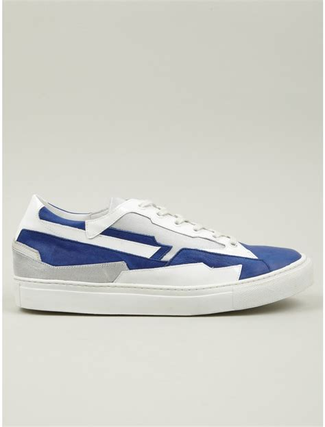 raf simons holographic space sneakers raf simons mens low space sneakers in white for lyst