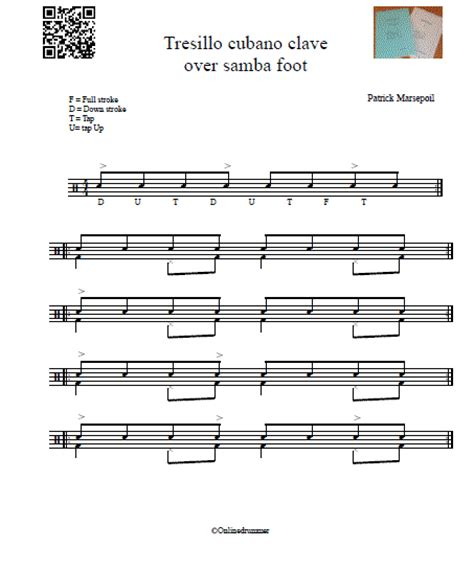 samba drum pattern notation my first samba onlinedrummer com