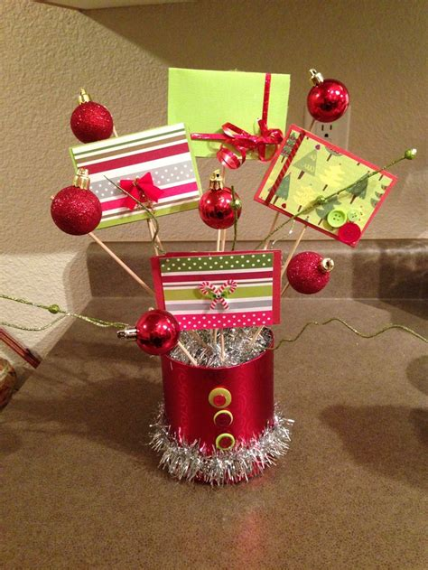 gift card bouquet holiday gift ideas pinterest