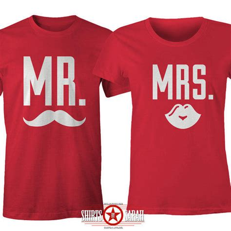 Husband Matching Clothes Matching S Shirts Mr Mrs From Shirtsbysarah On