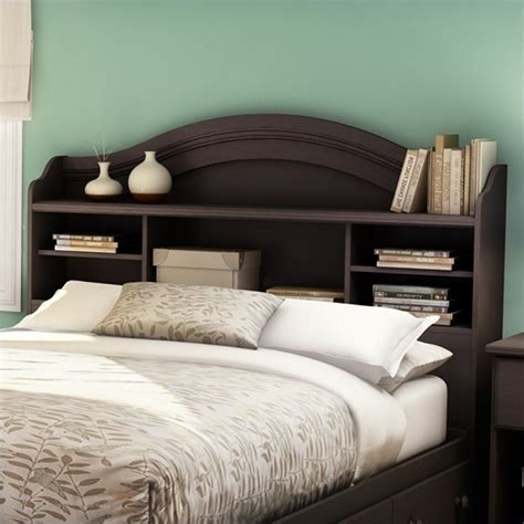 south shore headboards south shore summer breeze full bookcase headboard in