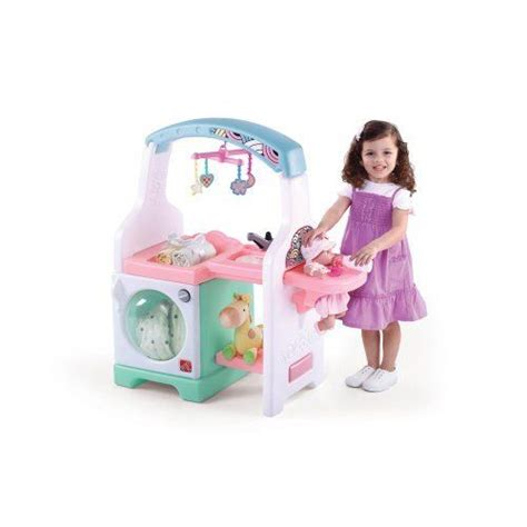 Baby Doll Changing Table And Care Center Step2 Deluxe Nursery Center By Step2 80 80 Includes A Mobile Doll Blankets Bottle And