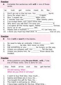 Punctuation Worksheets Grade 8 by Grade 8 Grammar Lesson 12 The Simple Future Tense I