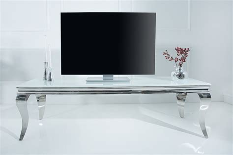 tv tisch modern stylischer tv tisch 160cm opalglas riess ambiente de