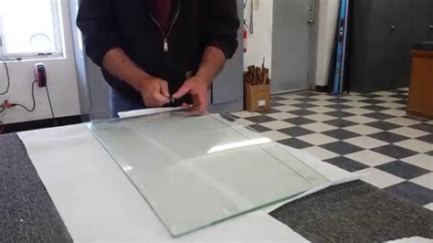 get glass cut for table top how to cut curved auto glass windshields chop top
