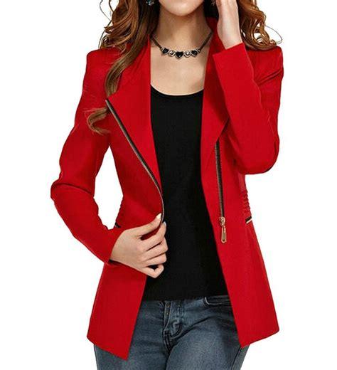 Reds Winter Blazer Blazer Korea blazers for tulips clothing