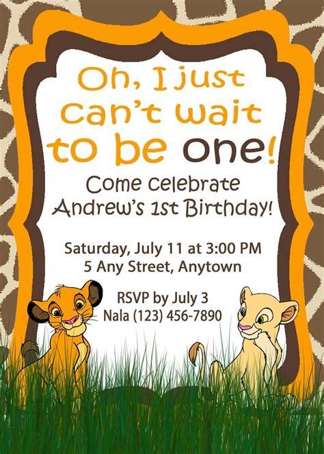 king birthday card template birthday invitation simba theme