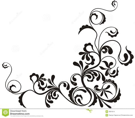 ornamental floral background stock images image 3901614