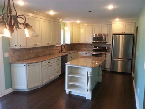 Kitchen Ideas With Maple Cabinets mrk kitchen kraftmaid cabinets done in harrington door