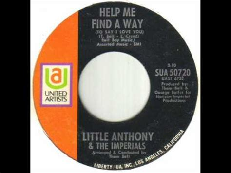 Help Find Anthony The Imperials Help Me Find A Way Wmv