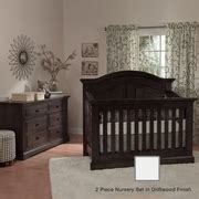 curve 6 nursery furniture set munire chatham curve top crib in driftwood free shipping