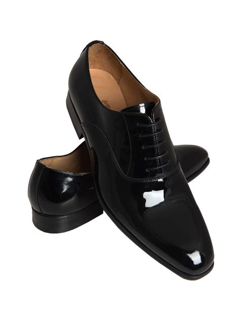 Black Shoes by S Black Patent Crosby Dress Shoe Hawes Curtis