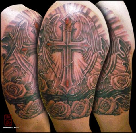 best tattoo cover ups cross armband eddie loven cover up