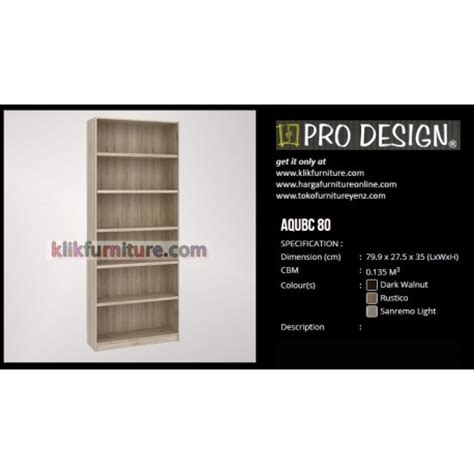 Rak Tv Pro Design aqubc 80 pro design lemari rak buku agen resmi murah