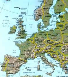 Map Of Europe Mountains by Gallery For Gt Europe Map With Mountains