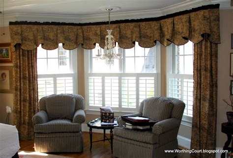 bay window window treatments bay window treatment solution worthing court