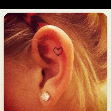 first tattoo behind ear heart ear tattoo tattoos pinterest get a tattoo so