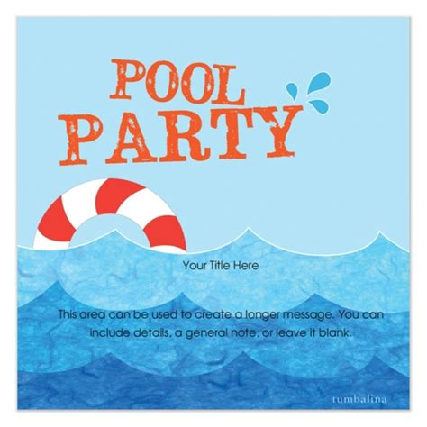 Free Pool Invitation Template free pool invitation template cimvitation