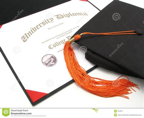 Educational Requirements For Photography by College Diploma With Cap And Tassel Royalty Free Stock Photography Image 314917