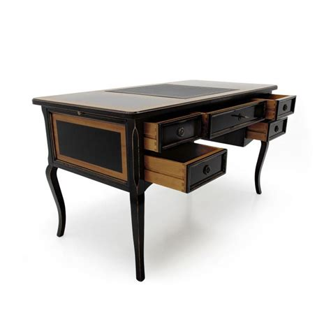 large wood writing desk classic style writing desk made of wood perseo 186